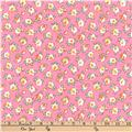 Kaufman Dolly Jean Small Flowers Pink