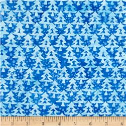 Island Batik Tinsel Tree Blue