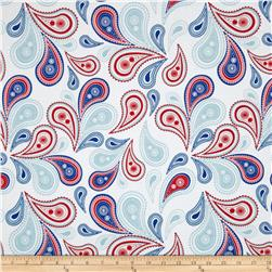 Riley Blake Summer Celebration Summer Paisley White