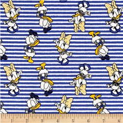 Disney Mickey Mouse & Friends Daisy & Donald Stripes Blue
