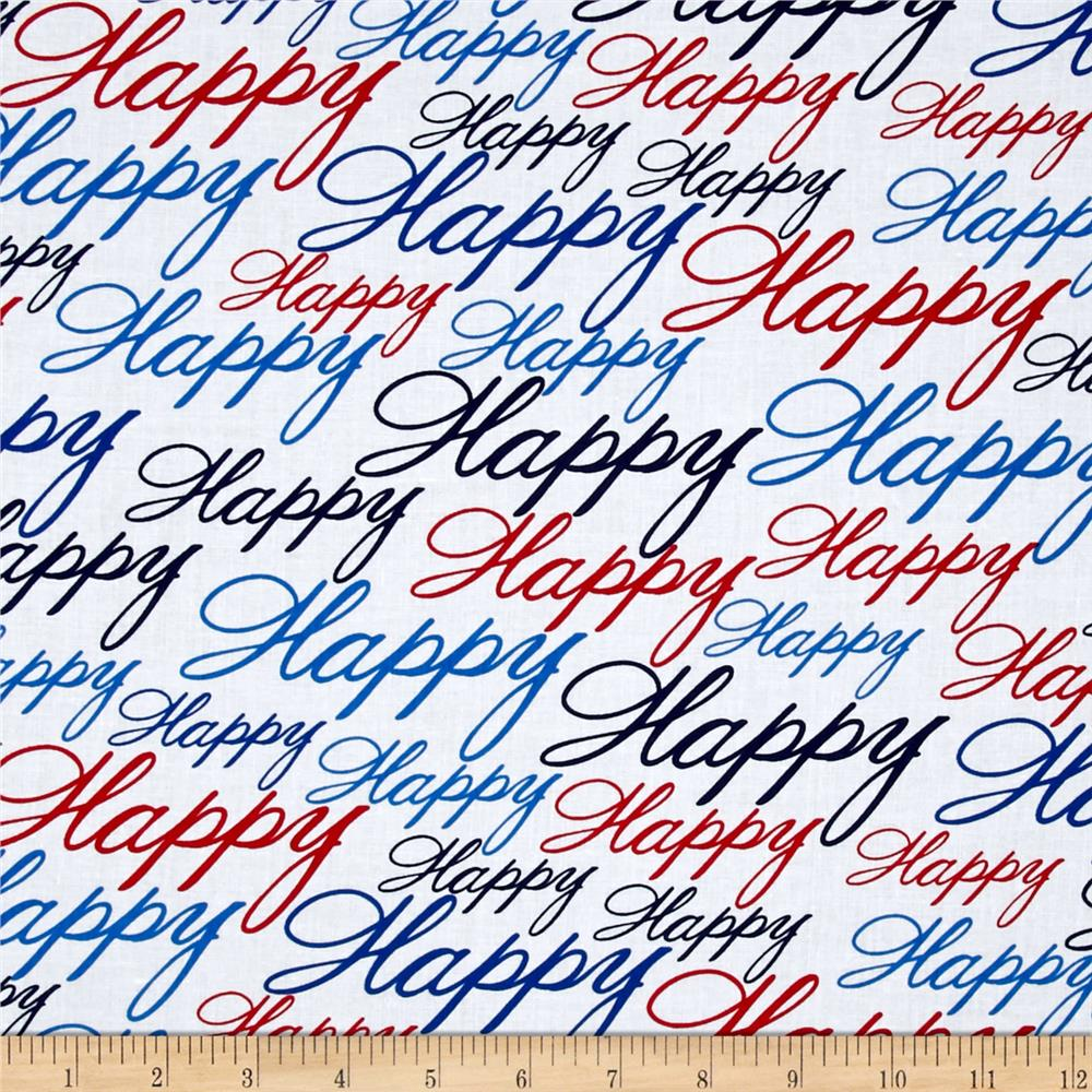 Kanvas All American Happy Red/White/Blue