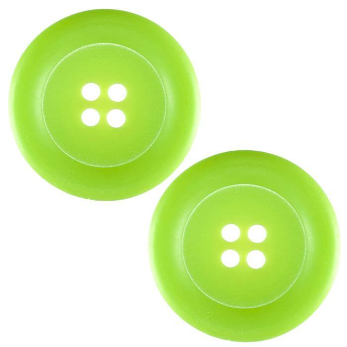 "Riley Blake Sew Together 2"" Matte Round Button Lime"