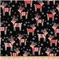 Natalie Alex Snow Delightful Reindeer Sweaters Black