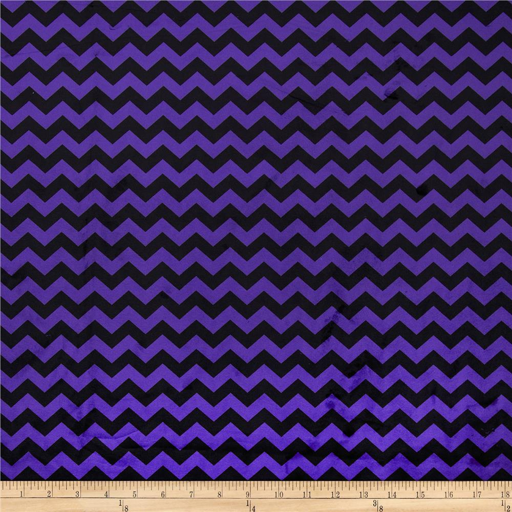 Minky Mini Chevron Purple/Black