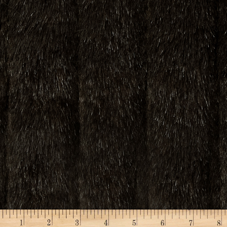 Faux Fur Tip Dyed Mink Brown Fabric