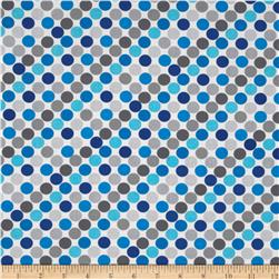 Sapphire Dots Blue on White