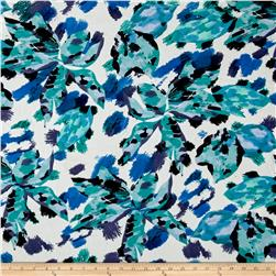 Liverpool Double Knit Floral Teal