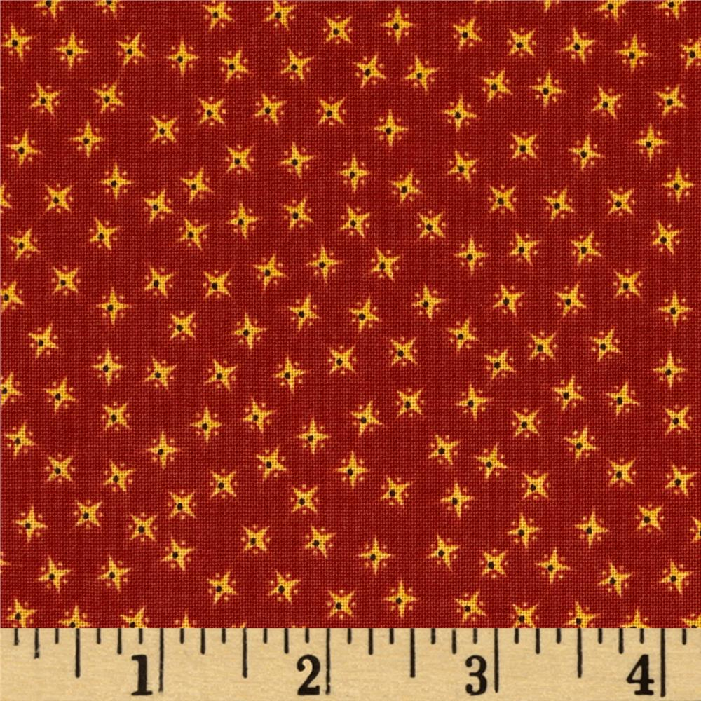 Penny Rose Civil War Times Stars Red