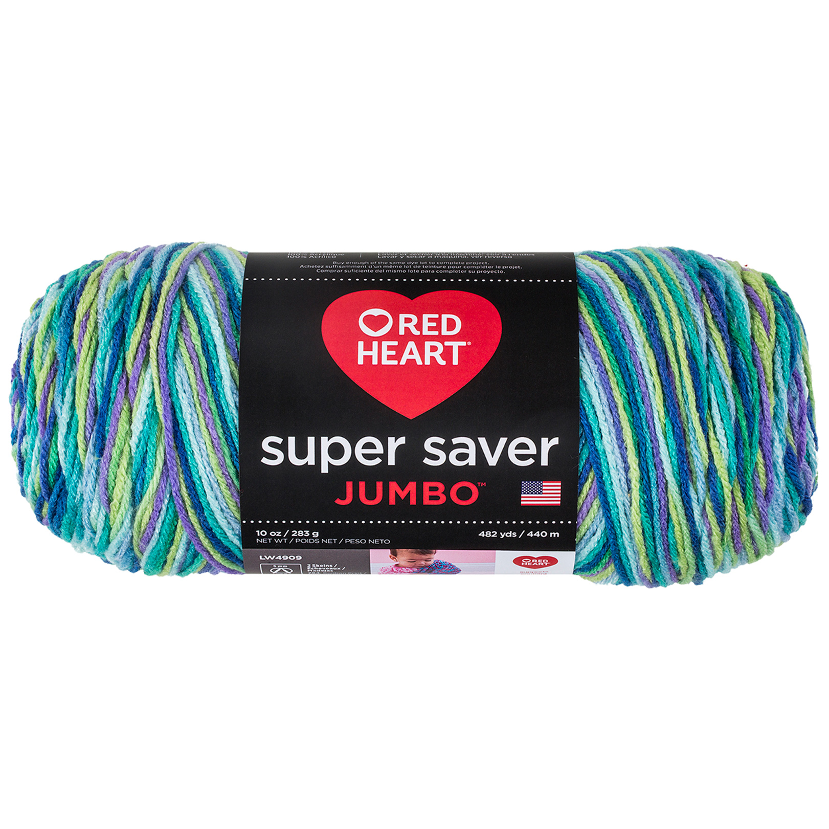 Red Heart Super Saver Jumbo Wildflower by Coats & Clark in USA