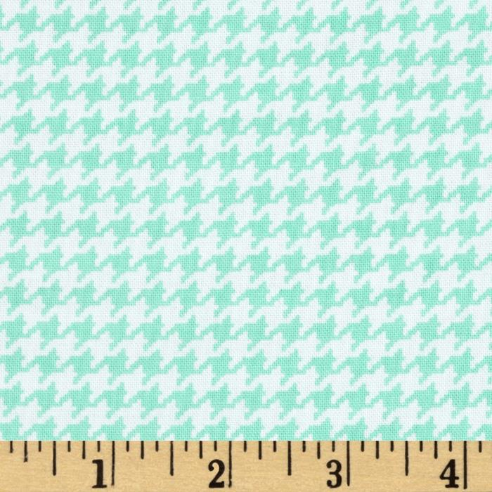 Michael Miller Tiny Houndstooth Seafoam