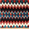 Brushed Hatchi Sweater Knit Geo Zig Zag Blue/Multi