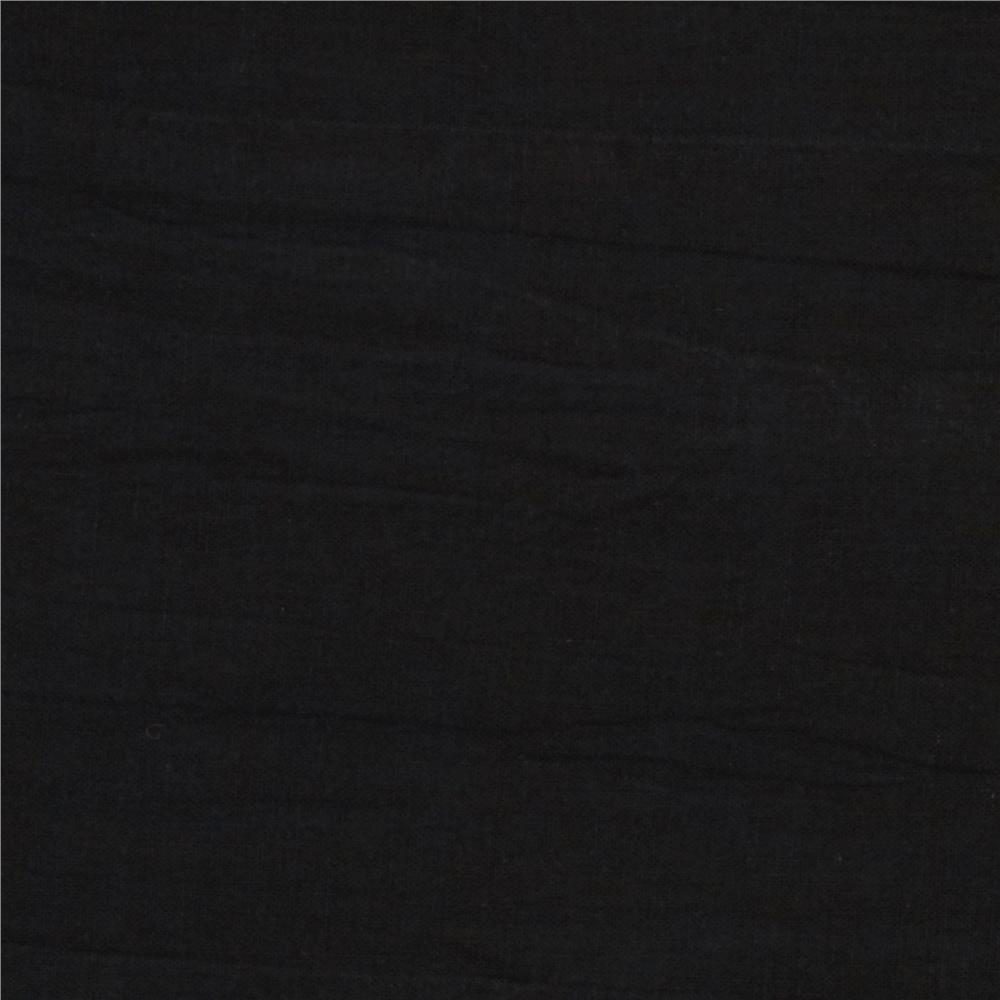 Crinkle Cotton Gauze Black