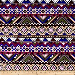 Fashion Jersey Knit Geo Tribal Multi