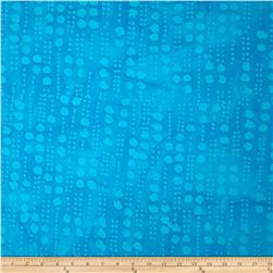 Indian Batiks Hollow Ridge Line Dots Turquoise