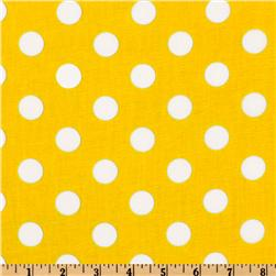 Forever Large Polka Dot Yellow Fabric
