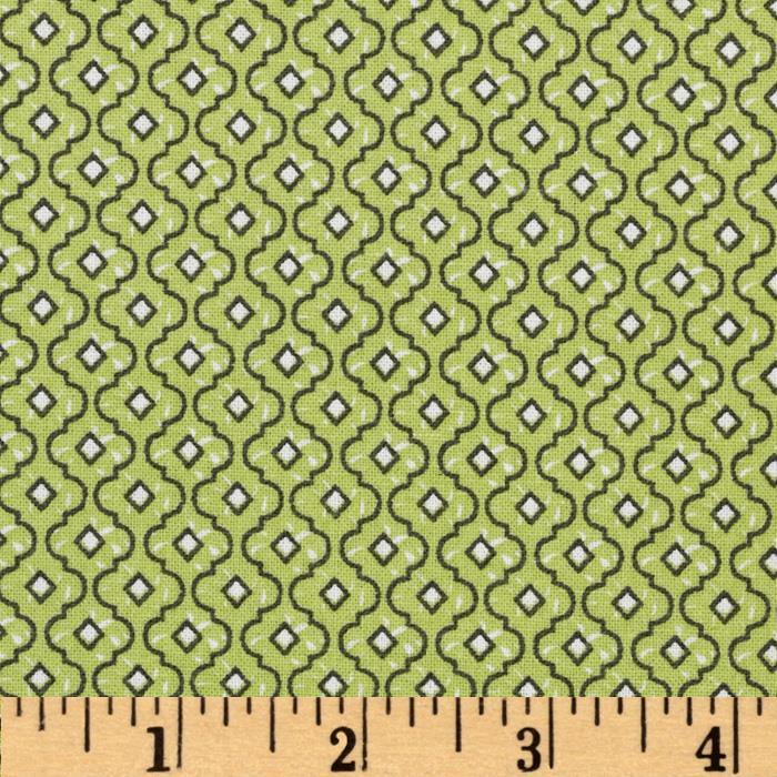 Dots and More Trellis Lime