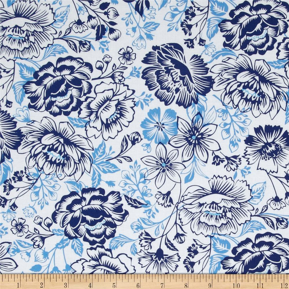 Sing the Blues Floral White