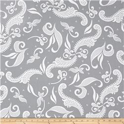 Hoffman Simply Eclectic Lace Scroll Silver