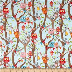 Riley Blake Tree Party Flannel Main Blue