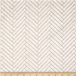 Heritage Herringbone Whitewash