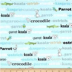 Koala Party Aussie Words Aqua/Blue