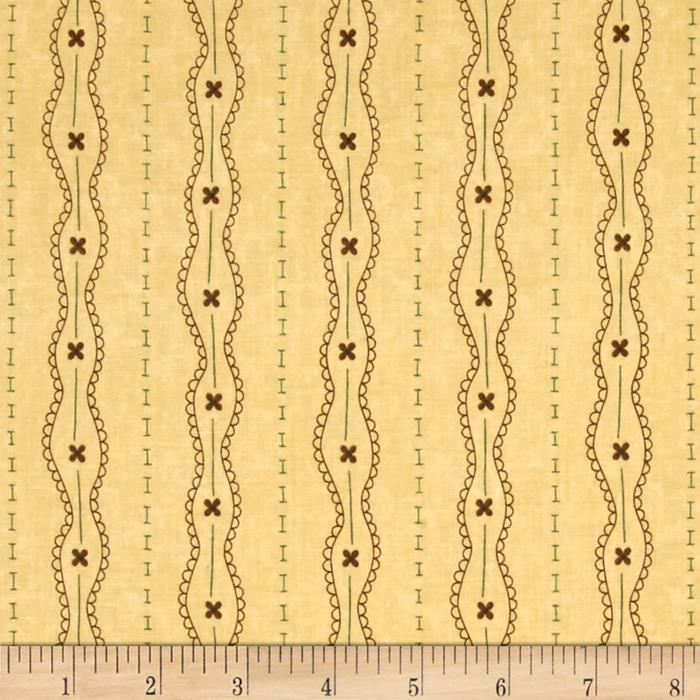 Moda Print Charming Lacey Stripe Cream