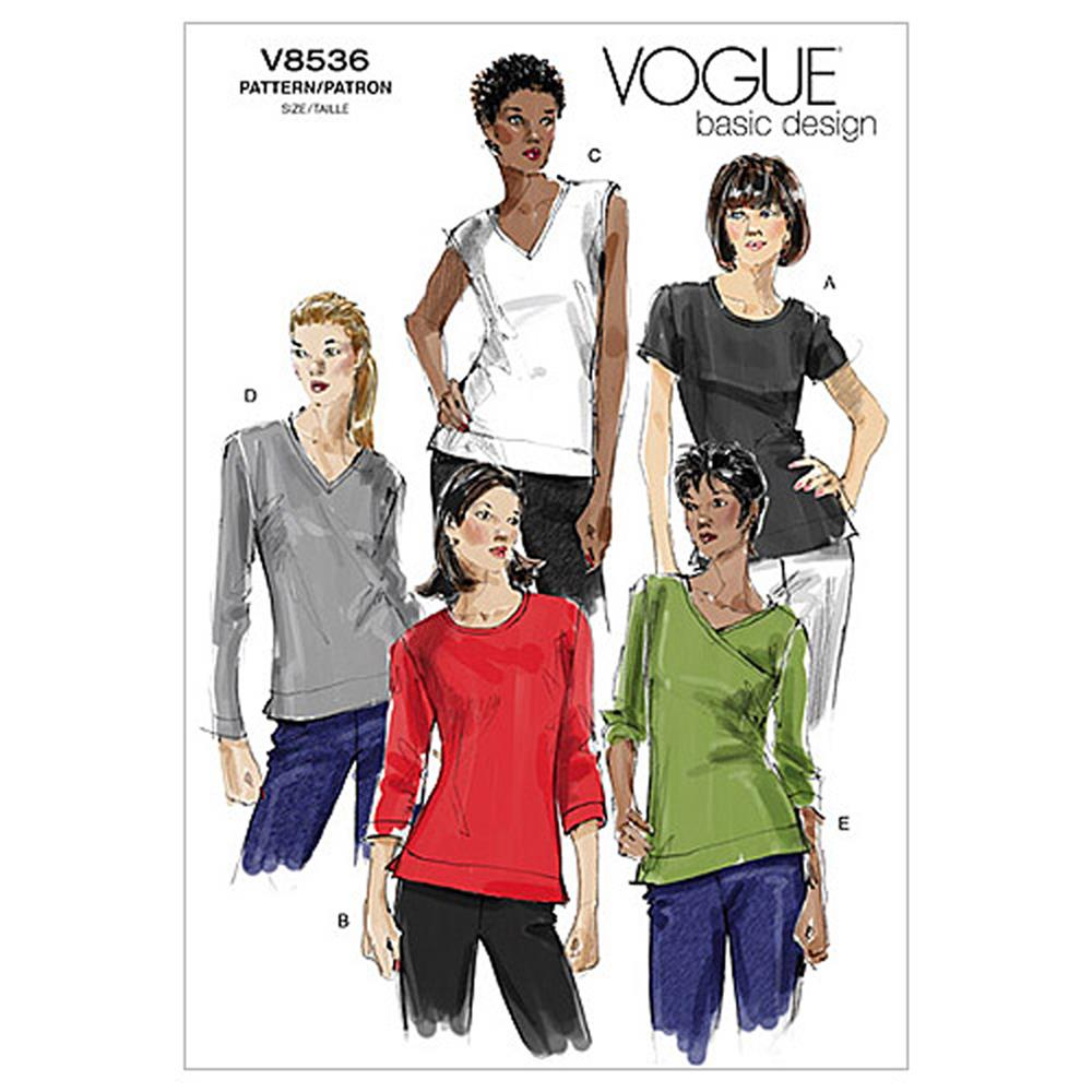 Vogue Misses' Top Pattern V8536 Size AA0