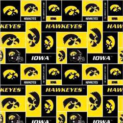 Collegiate Fleece University of Iowa Blocks