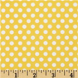 Michael Miller Butterfly Kisses Kiss Dot Yellow Fabric