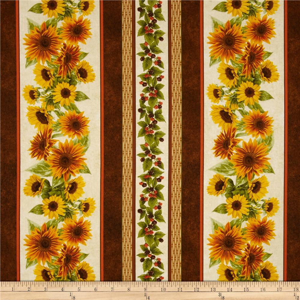 Harvest Botanical Stripe Brown