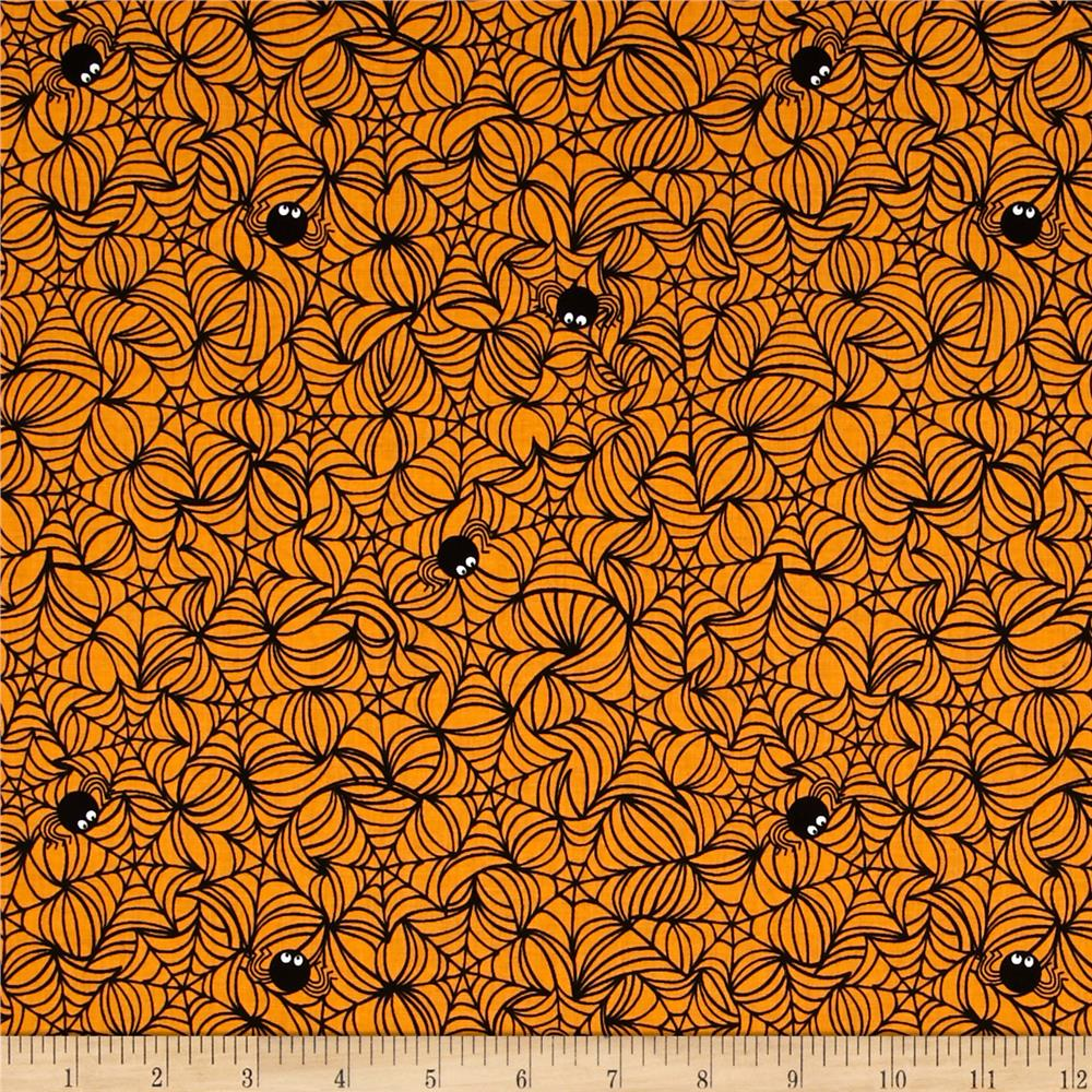 Riley Blake Halloween Magic Halloween Web Orange