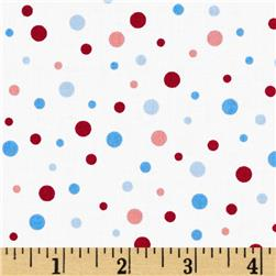 Snow Daze Dot Multi/White Fabric