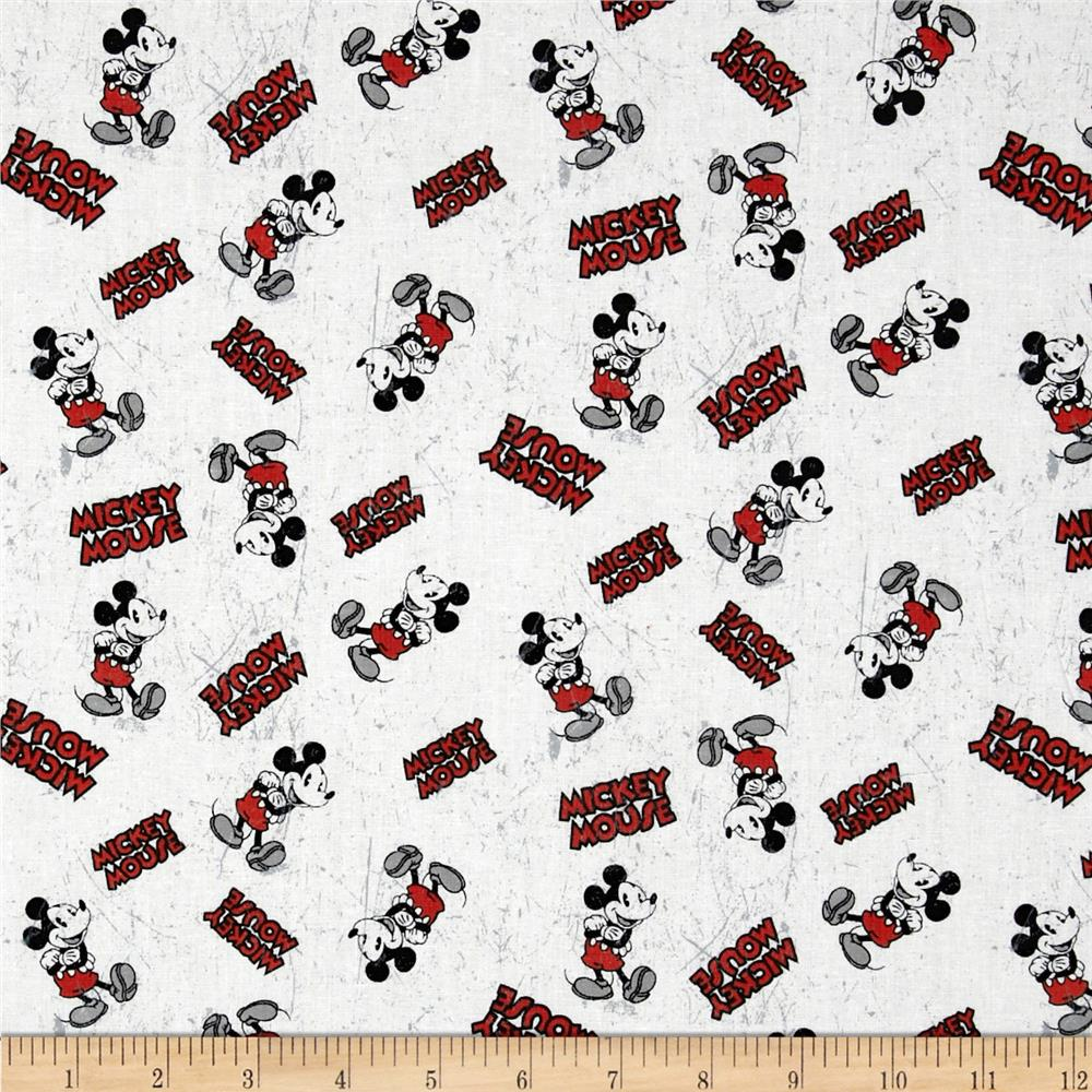 Disney Vintage Mickey Comic Character Toss Black/Red