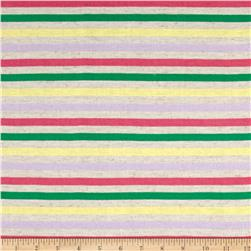 Jersey Knit Multi Stripe/Green