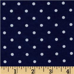 Dreamland Flannel Swiss Dots Navy Skies