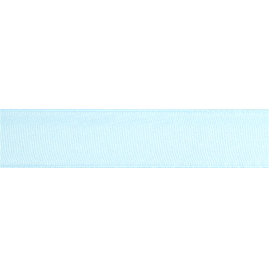 1 1/2'' Double-sided Satin Ribbon Light Blue Fabric