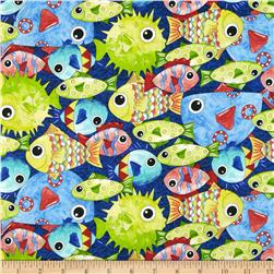 Under the Sea Packed Fish Dark Blue