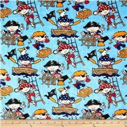 Minky Cuddle Classic Kids Ahoy Blue Fabric