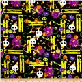Horror Scope Candy Corn & Skulls Black