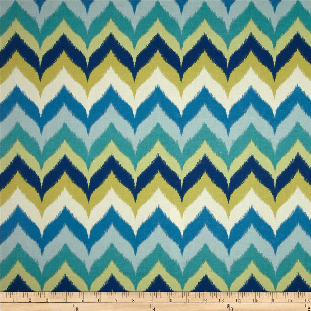 Swavelle/Mill Creek Gantt Chevron Blue/Citron