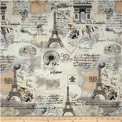 Letters from Paris Paris Map Cream