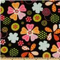 WinterFleece Flower Dot Black/Brights