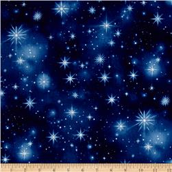 Timeless Treasures Nativity Twinkling Stars Night