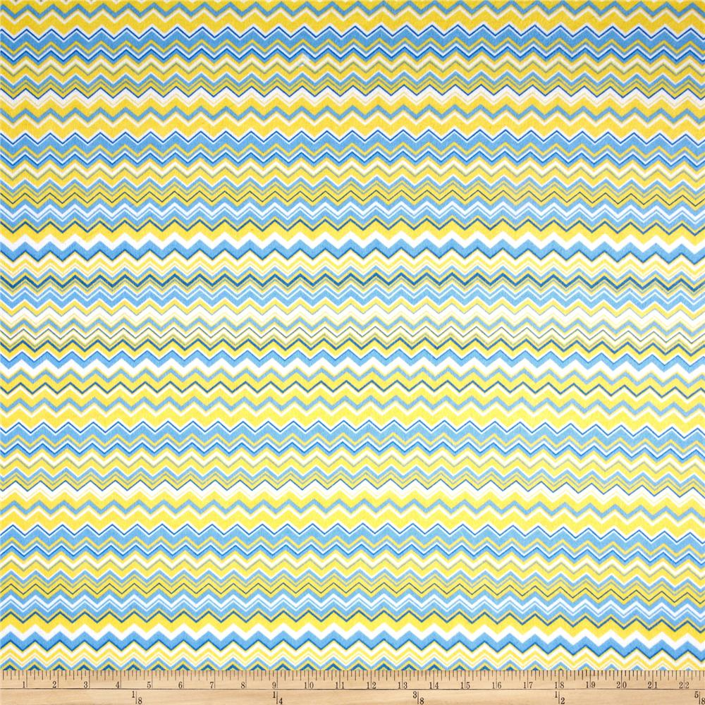 Chevron Flannel Yellow/Blue