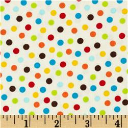 Moda Monkey Tales Funky Monkey Dots Cream Fabric