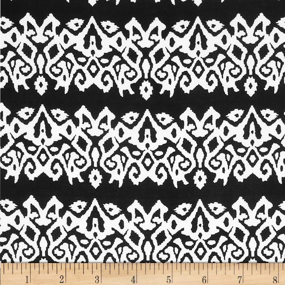 Spandex ITY Jersey Knit Abstract White/Black