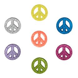 Dress It Up Embellishment Buttons  Glitter Peace