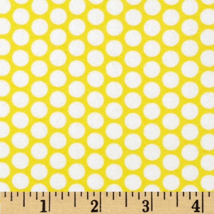 Riley Blake Flannel Honeycomb Dot Yellow