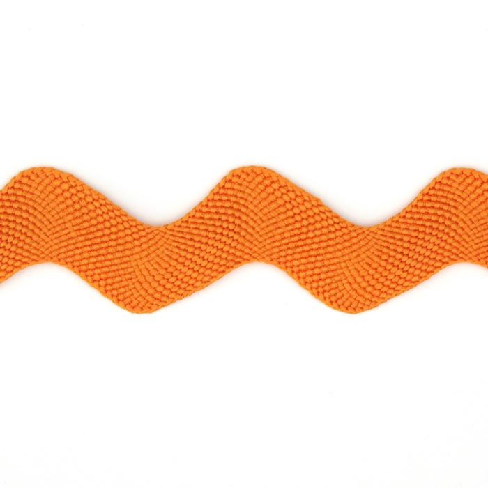 "1"" Ric Rac Polyester Large Trim Orange"