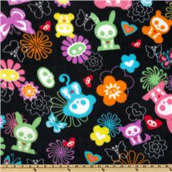 Skeleton Animals Fleece Black